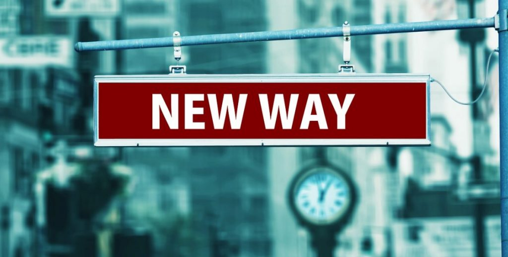 street sign that says New Way