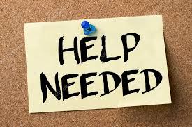 Help Needed sign